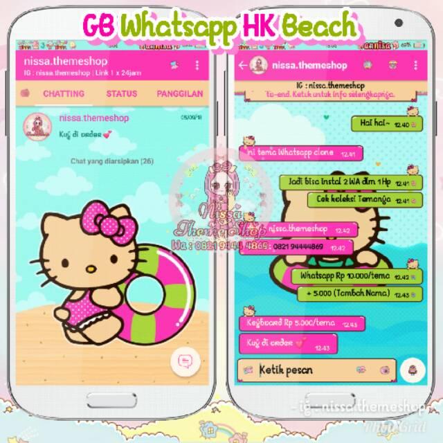 Tema Whatsapp Wa Hello Kitty Beach Shopee Indonesia