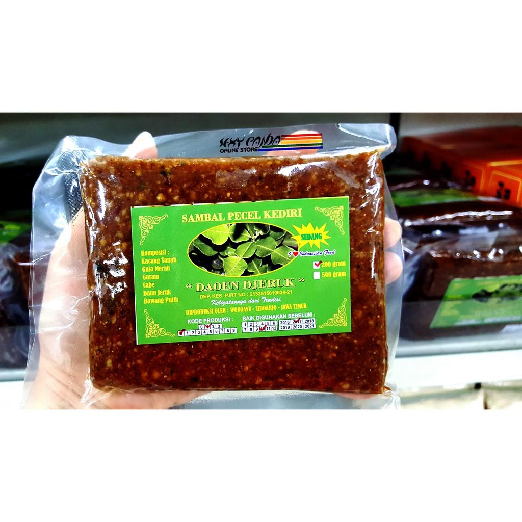 Bumbu Sambal Pecel Kediri Daoen Djeruk Kacang Siap Makan Bawang Pedas Daun Jeruk Thailand Premium 500 Gram Shopee Indonesia