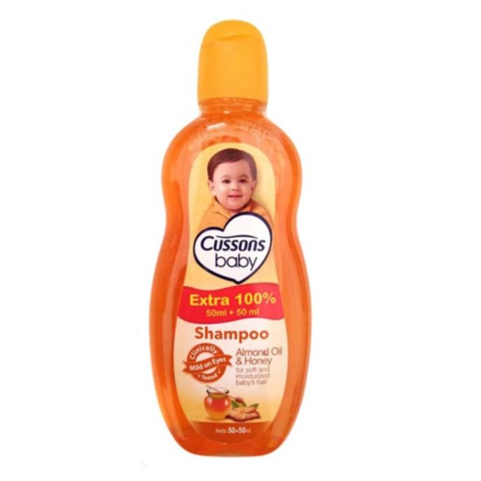 ORIGINAL Cussons Baby Shampoo 100ml+100 ml & 50ml+50ml / Cusson Shampoo Bayi / LEDI MART-Shp Almond 50+50