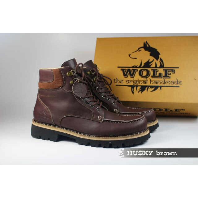 Sepatu Boots Kulit Pria Wolf Malamut Original Hight Quality Black ... eb18bfc62c