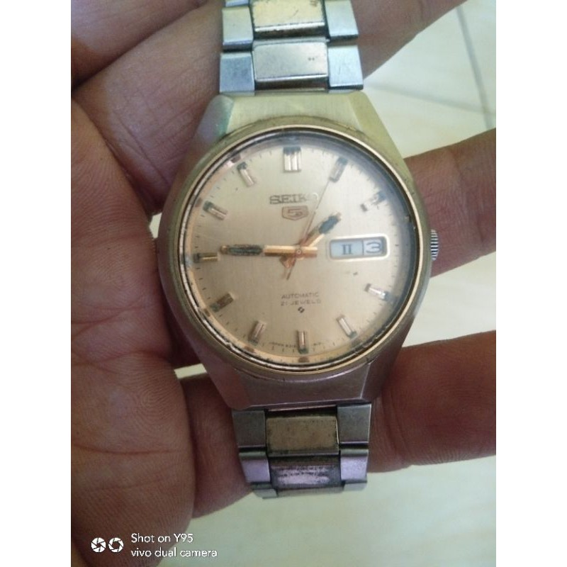 SEIKO  5  AUTOMATIC 21 JEWELS ANTIK/JADUL