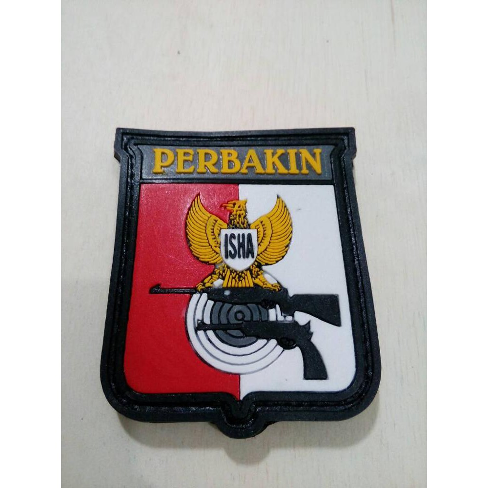 Patch Pacth Rubber Tactical Velcro Logo Perbakin Shopee Indonesia