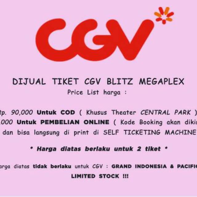 Tiket Cgv Temukan Harga Dan Penawaran Event Ticket Online Terbaik