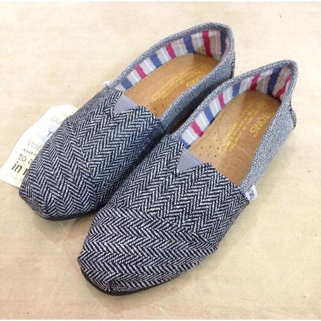 Toms Shoes ORI 100% ASLI Blue Stripes Canvas (Box Included)  4f8c085181
