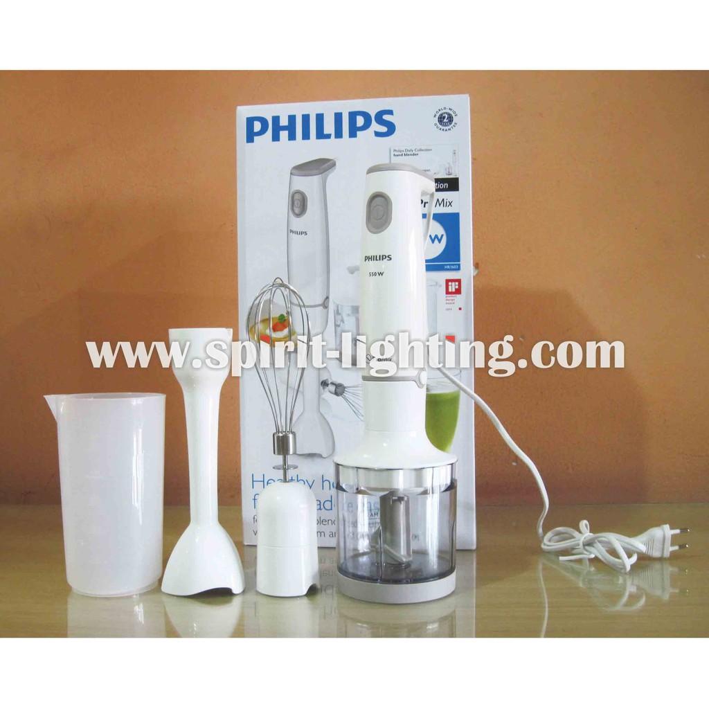 Philips Hand Blender Hr1603 Hr 1603 Shopee Indonesia Hr2116 Biru Putih Kaca