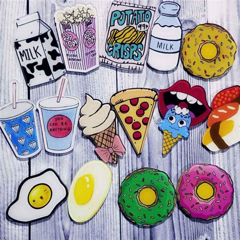 Bros Desain Kartun Makanan Pizza Bahan Akrilik Untuk Dekorasi Sshi