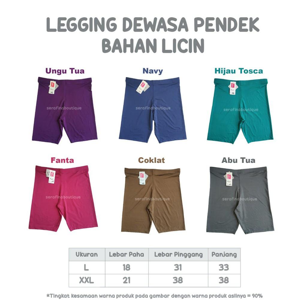 Legging Dewasa Pendek Bahan Licin Leging Dalaman Gamis Shopee Indonesia