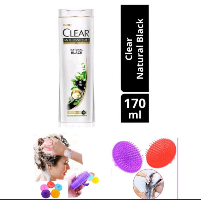 CLEAR  NATURAL BLACK ANTI DANDRUFT FREE SISIR KRAMAS 170ml-4