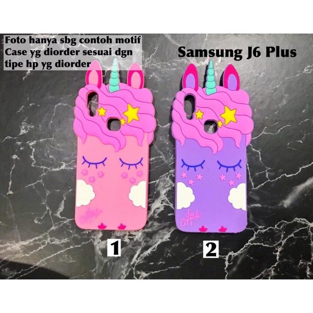 Softcase case unicorn 3D boneka Samsung J6 Plus  3f50c967e2