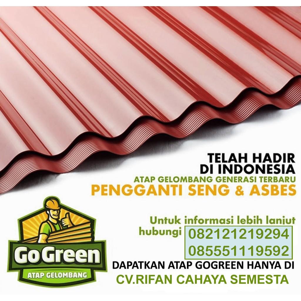 Atap Go Green Panjang 210 Cm Shopee Indonesia Seng plastik go green