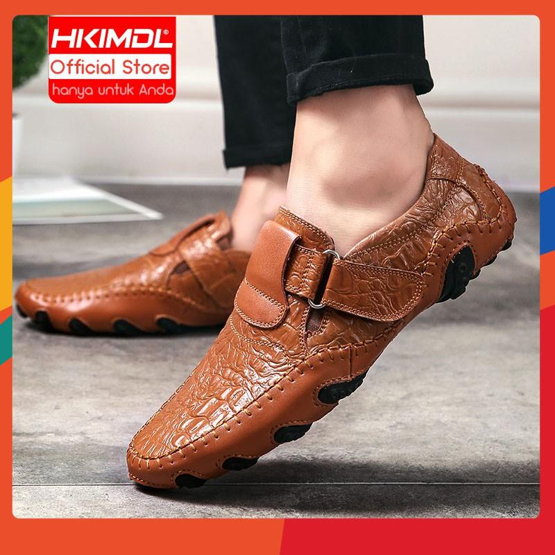 2020 Asli Kulit Sepatu Pria Merek Modis Pria Kasual Sepatu Pria