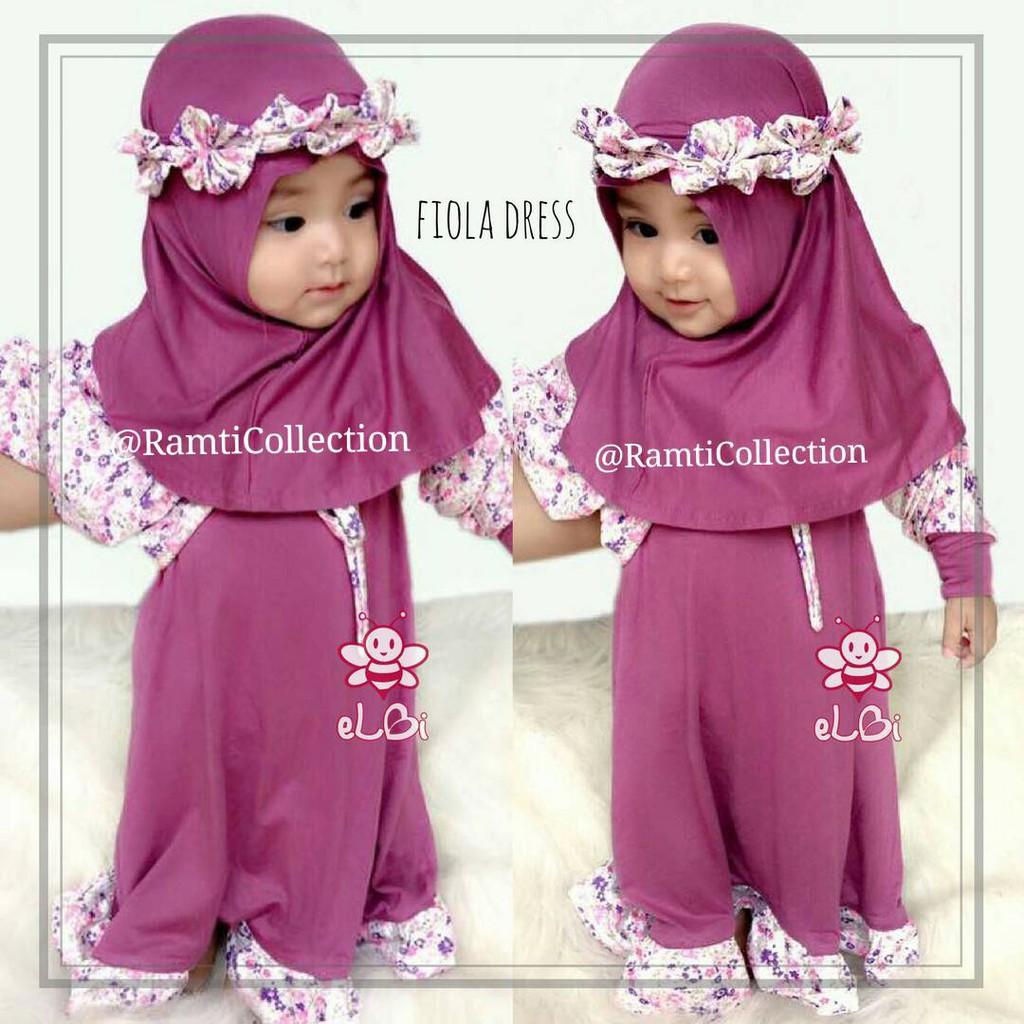 Longdress Anak I Baju Gamis Lucu Setelan Muslim Long Dress Jilbab