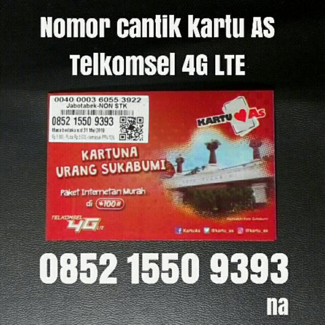 nomor cantik kartu AS telkomsel 4G LTE kartu perdana pilihan abab 5656 | Shopee Indonesia