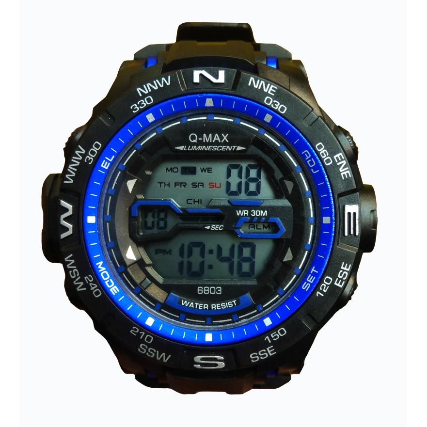 Q-MAX 6803 - Jam Tangan Sport Pria Dan Remaja Murah - Anti Air- 0018d7f819
