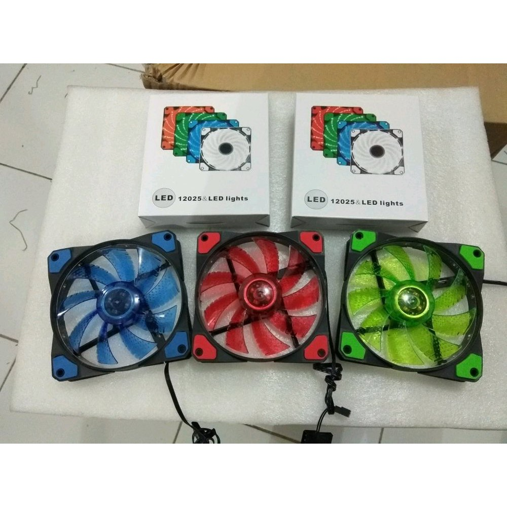 Fan Casing 12 Cm 15 Led Shopee Indonesia Segotep Yf 12cm Red Hydro Bearing