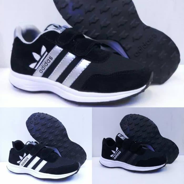Sepatu Adidas Rev Size 33 37 Sepatu Anak Pria Man Sekolah Hitam