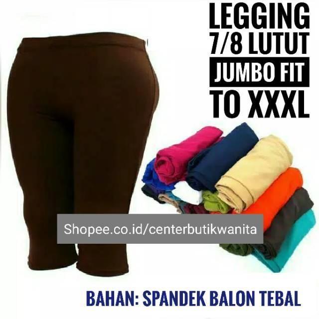 Premium Celana Legging Pendek 7 8 Jumbo Wanita Remaja Dewasa Spandek Shopee Indonesia