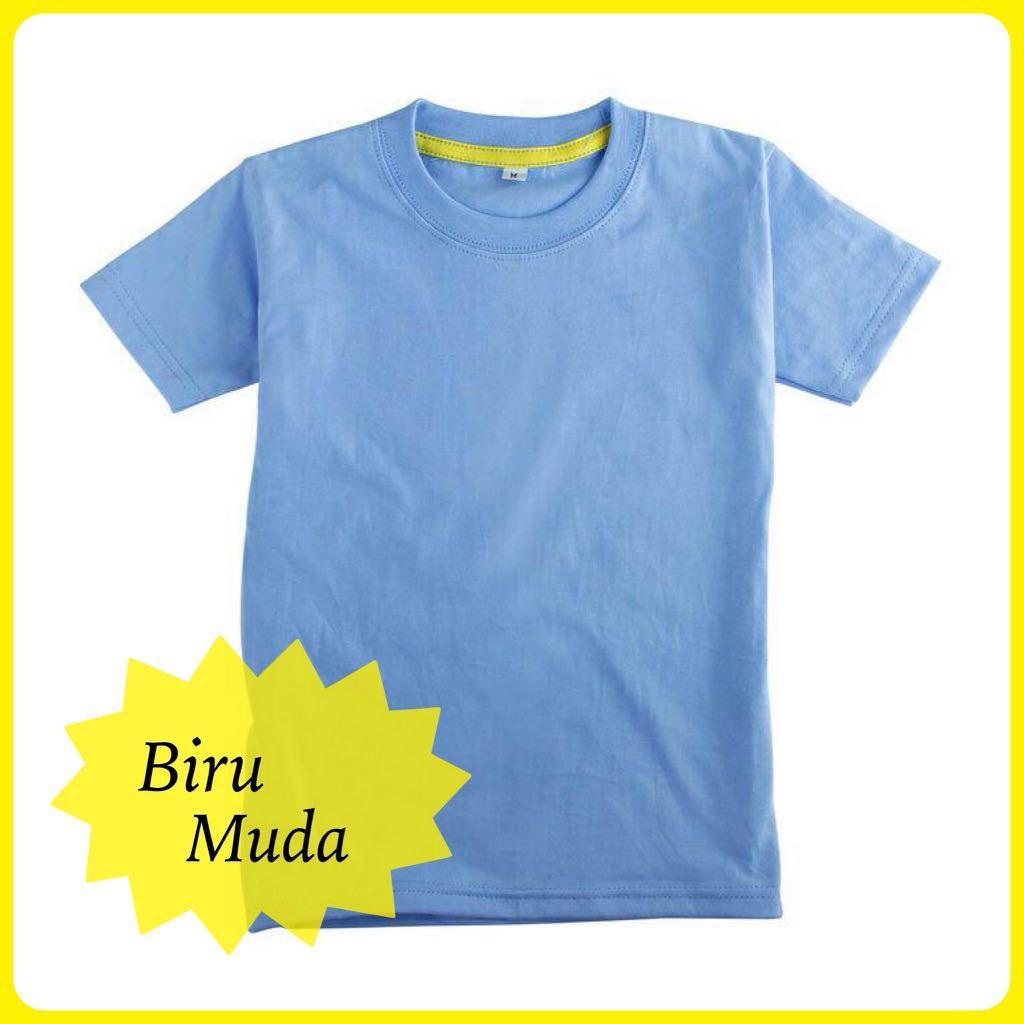 Kaos Polos Anak Usia 1 12 Tahun Biru Muda Laki Laki Baju Polos Anak Perempuan Combed 24s Pendek Shopee Indonesia