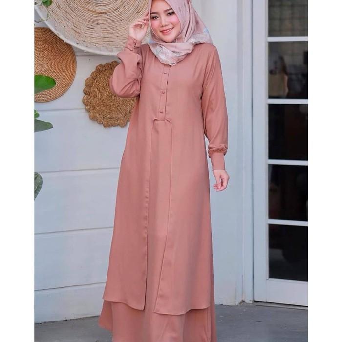 DRESS Baju Gamis Wanita Terbaru 2020 Dress Wanita Elegant Trend