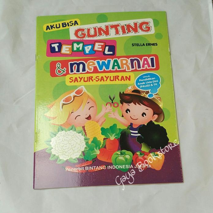 Stok Terbatas Buku Anak Aku Bisa Gunting Tempel Mewarnai
