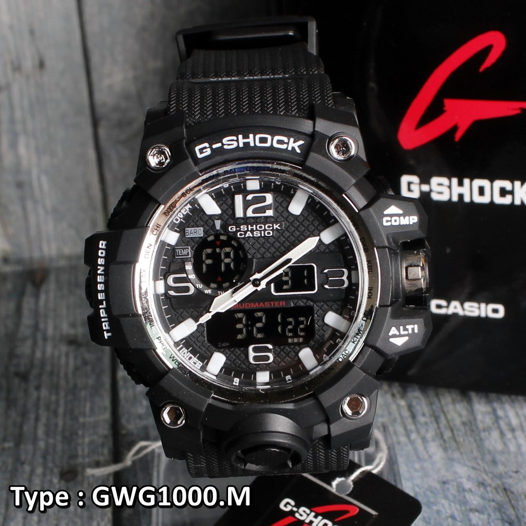 Casio G Shock Ga 100de 2a Shopee Indonesia 110ts 1a4dr Black And Orange Dial With Led Light