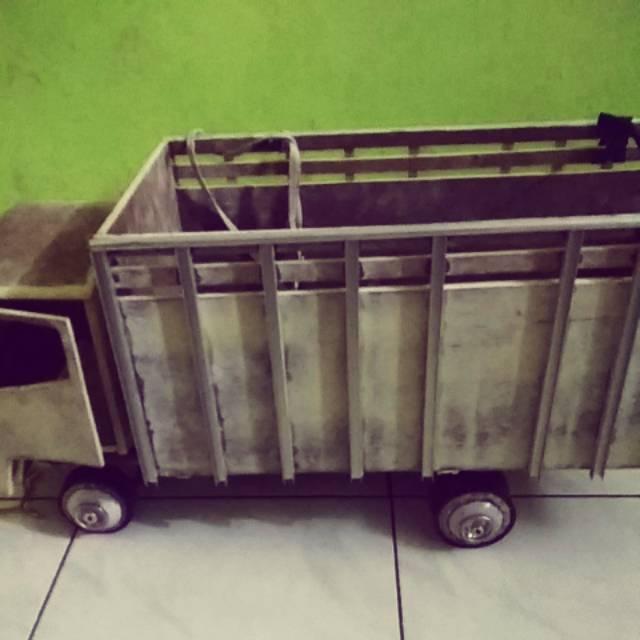 Miniatur Truk Canter Scala Besar Full Oleng Shopee Indonesia