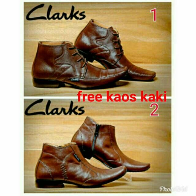 Sepatu pantofel pria clarks zipper hight kulit asli pria termurah ... 7508314a64