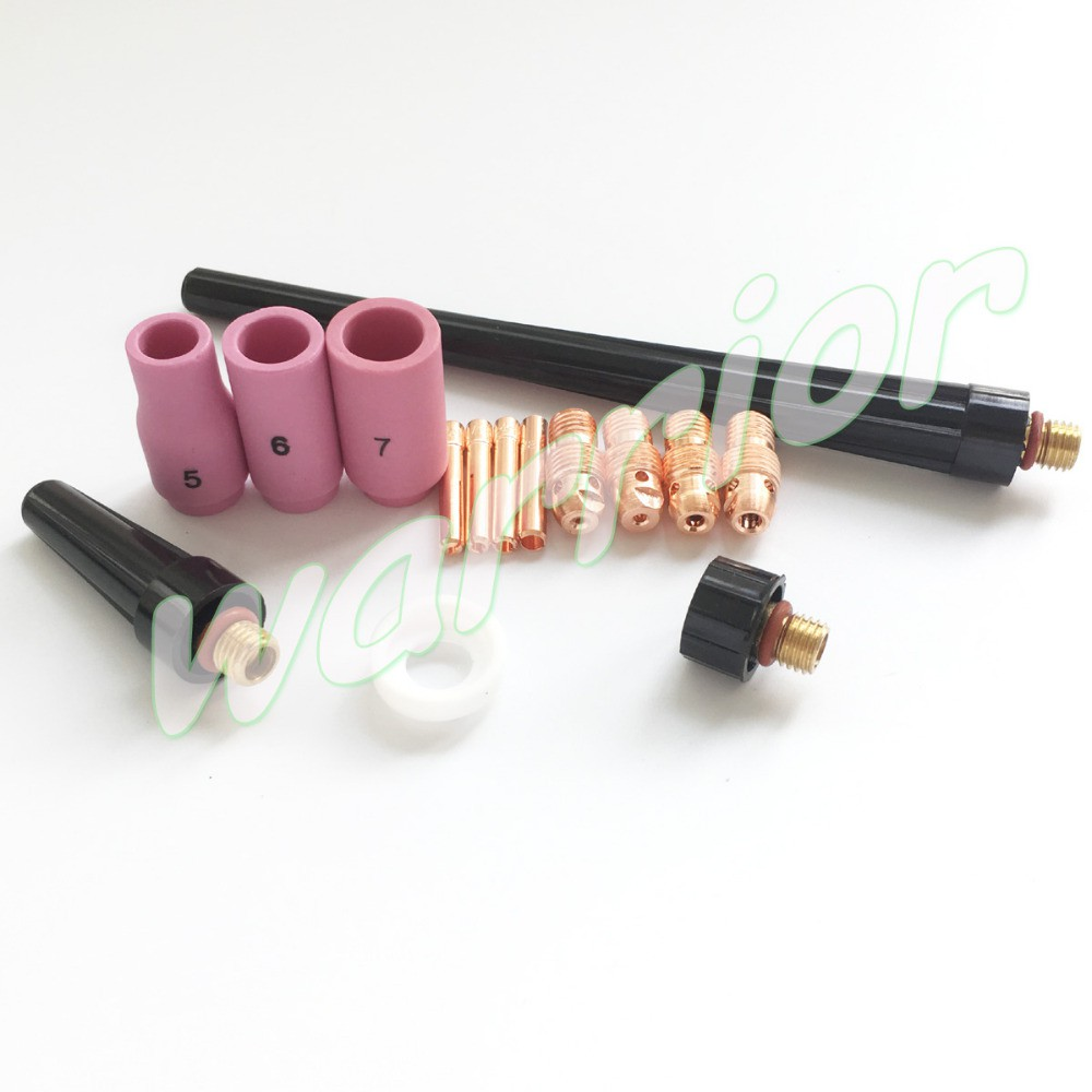 15pcs Sr Wp 9 20 25 Consumables Kit Tig Welding Torch Setup Collet Collet Body 1 0mm 3 2mm Shopee Indonesia