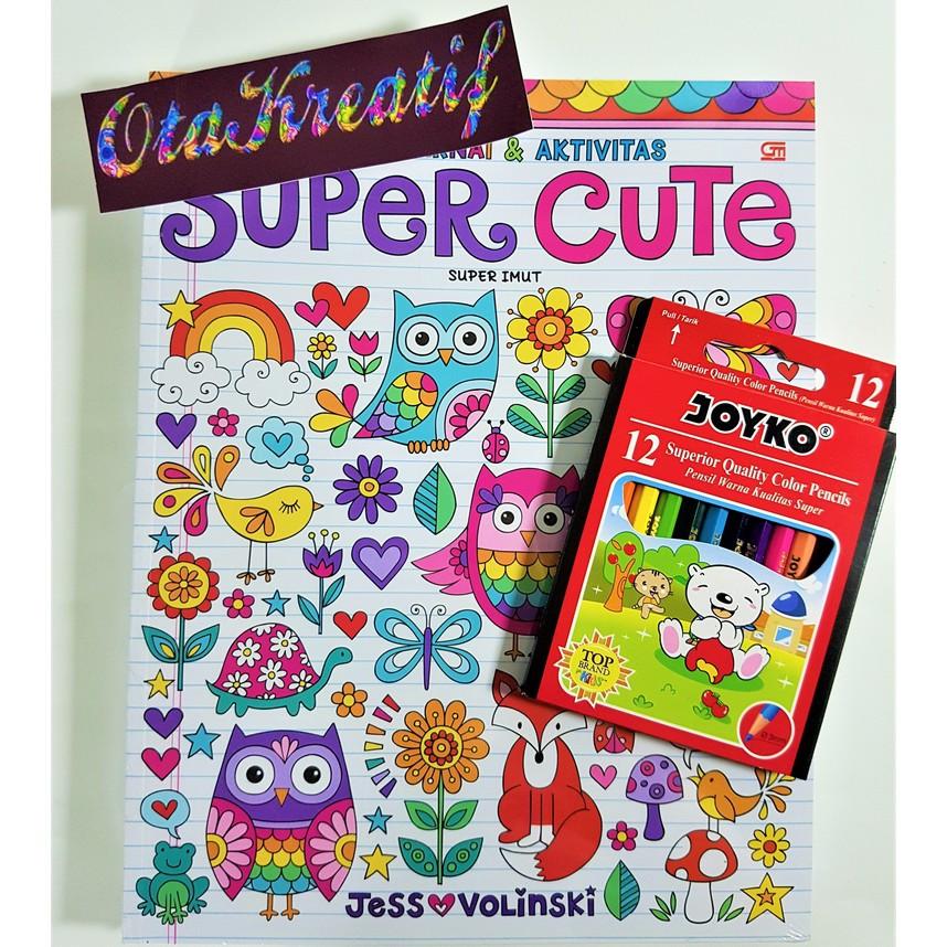 Super Imut Super Cute Buku Mewarnai Berkualitas Gramedia