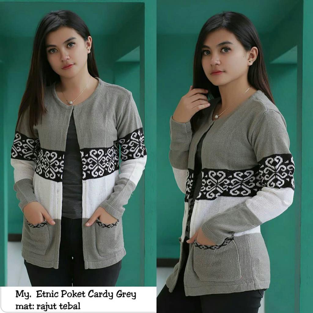 Long Twist Cardy Cardigan Baju Rajut Bagus Murah Premium Atasan Top Roundhand Secker Sweater Sj0015 Shopee Indonesia