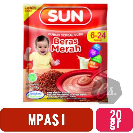 Sun Bubur Sereal Susu Beras Merah 6 Sd 24 Bln Sachet 20 Gr Shopee Indonesia