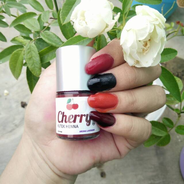 10ml Kutek Henna Halal Cherry Shopee Indonesia