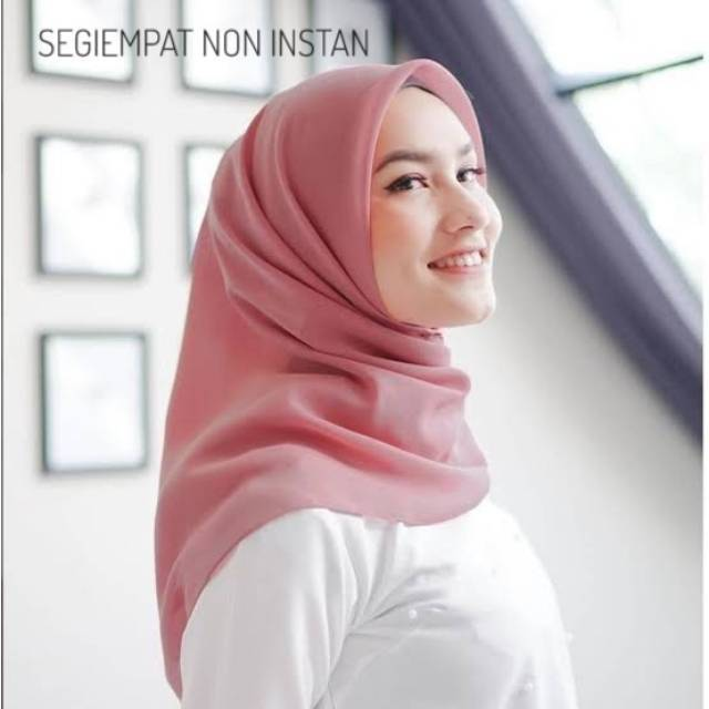 Segi Empat Diamond Square Non Instan Hijab Jilbab Diamond Crepe Shopee Indonesia