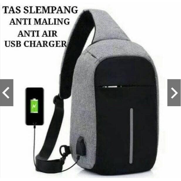BARU PRIA WANITA JUAL MURAH - Tas Slempang / Selempang Anti Air Kanvas SPEN USB Sling Bag Canvas Vr2 | Shopee Indonesia