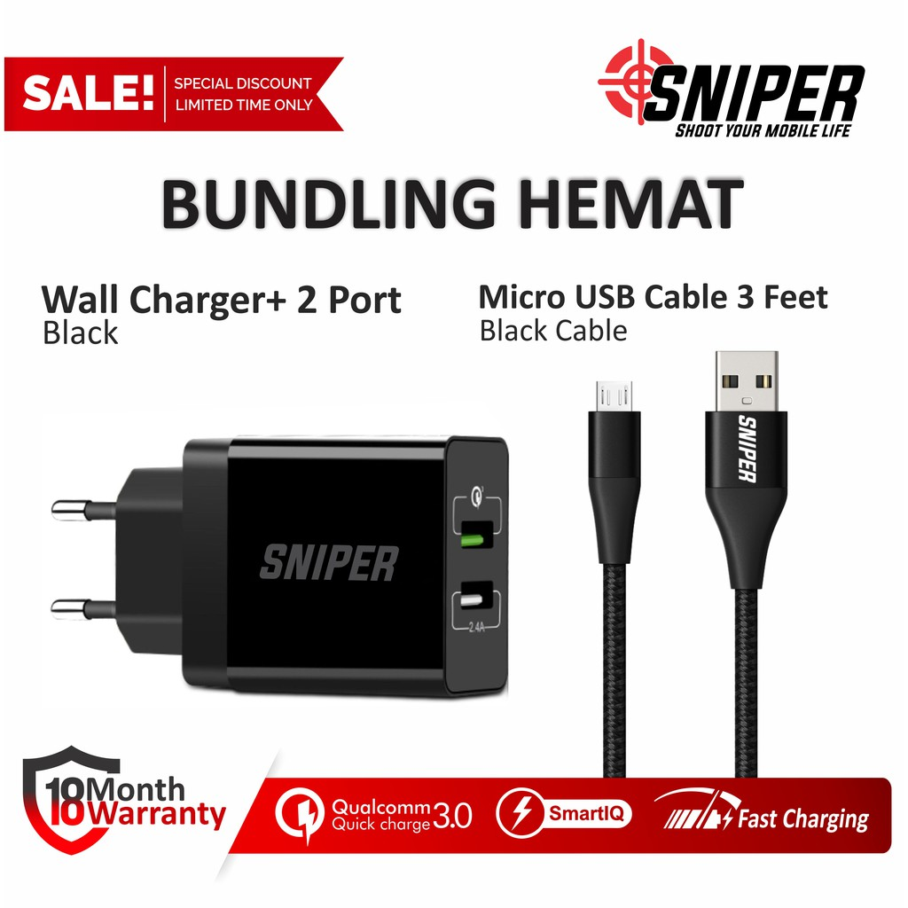 Aukey Charger 2 Ports 36w Qc 30 500294 Shopee Indonesia Anker Quick Charge 315w Dual Usb Powerport Us Plug Hitam