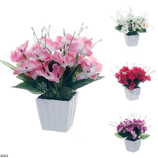 Rangkaian Bunga Anggrek Vas Melamin Ag01 Shopee Indonesia