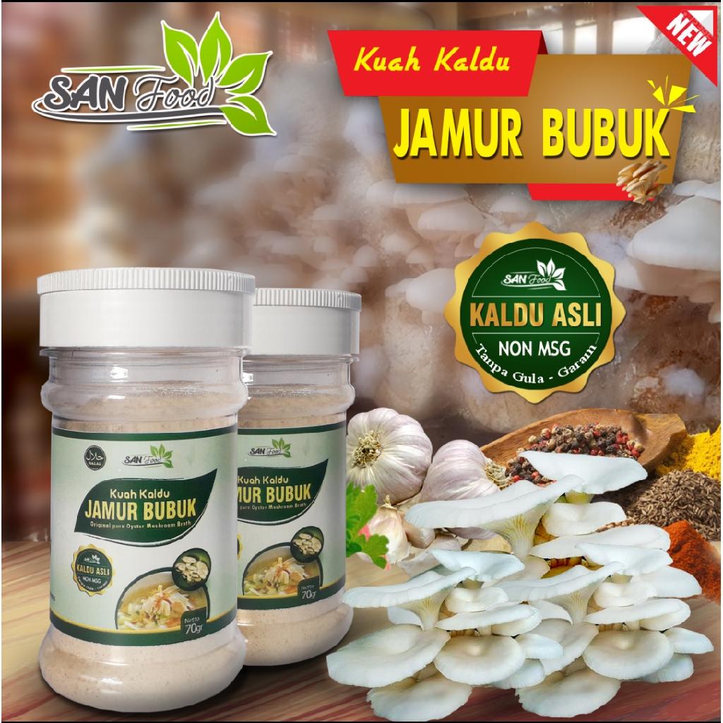 Sanfood Kuah Kaldu Jamur Bubuk Non Gula-Garam, Non MSG, tanpa pengawet.