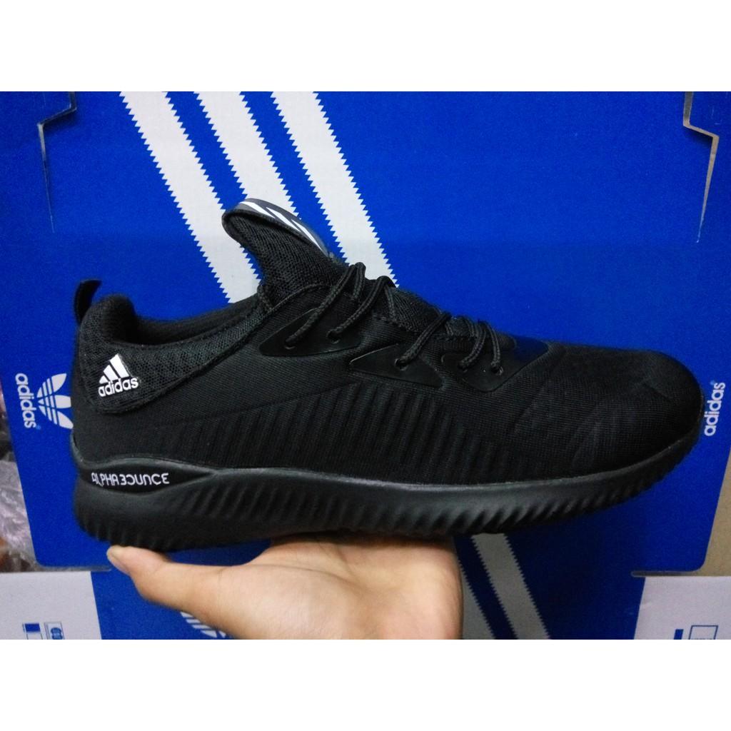 Sepatu Adidas Alphabounce Grade Original Fullblack Hitam Sneakers
