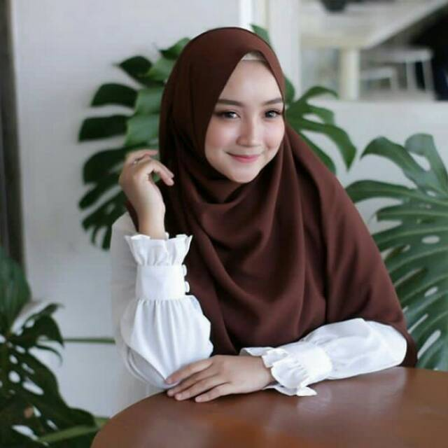 Sabyan Pashmina Diamond Crepe Shopee Indonesia