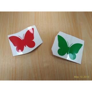wall sticker kupu kupu stiker hiasan pajangan dinding