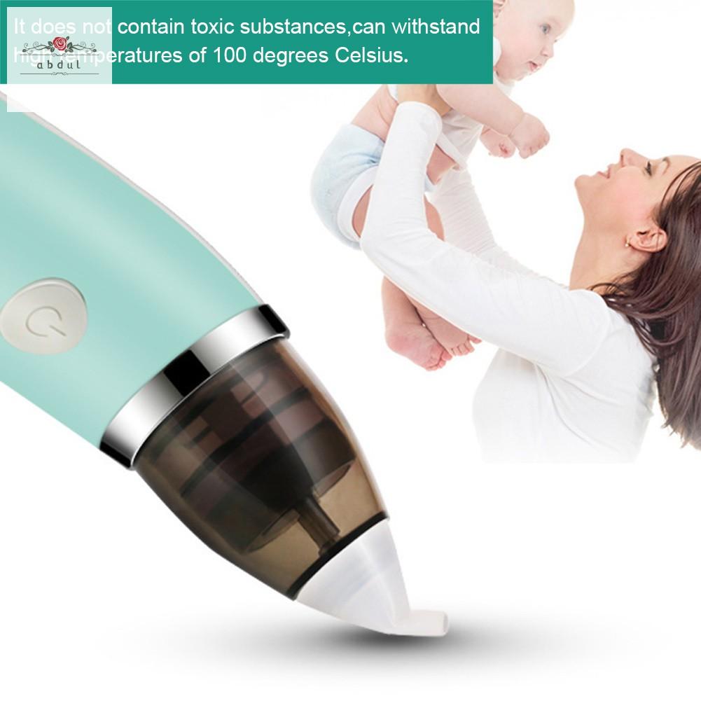 Newborn Baby Nasal Aspirator Electric Safe Hygienic Nose Cleaner Snot Sucker