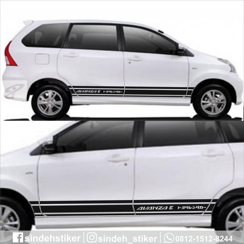 Cutting Sticker Mobil Avanza Stiker Mobil Striping Variasi Keren Simple Elegant Shopee Indonesia