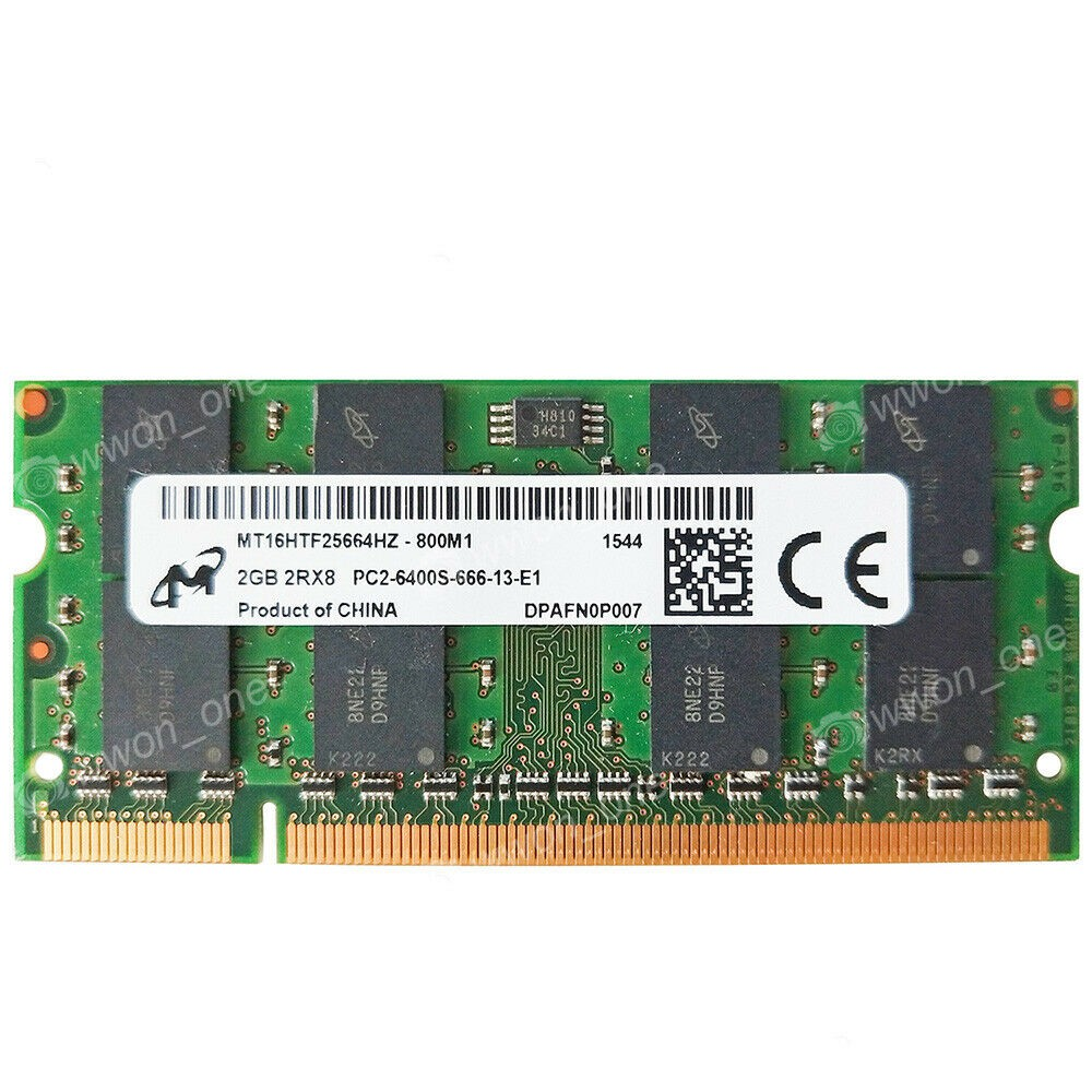 Hynix 4GB 2X2GB PC2-6400S PC2-6400 DDR2-800MHz SODIMM Non-Ecc Laptop Memory RAM