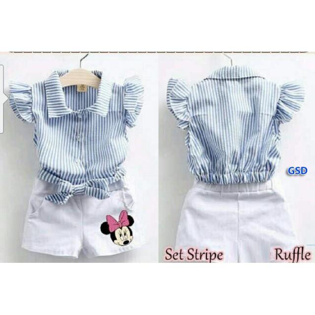 setelan baju anak cowo terbaru dan termurah lucu keren modis ST LINE ABU KID | Shopee Indonesia