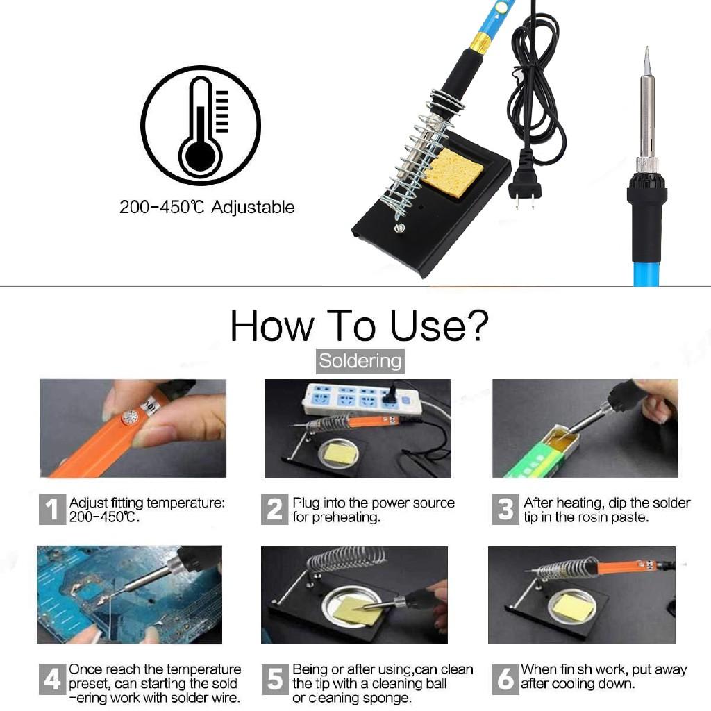 Welding Solder 9 Set Soldering Iron Kit 30w Best for Small Electric Work DIY