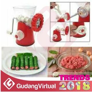 Penggiling Daging Sayuran Manual Huamei Mincer Praktis