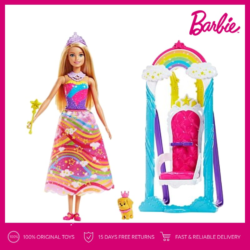 Barbie Fairytale Dress Up Gift Set Mainan Anak Perempuan  234e83f78b