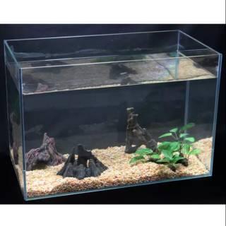 Aquarium Mini Buat Ikan Hias Kecil Uk 30x30x30 Shopee Indonesia