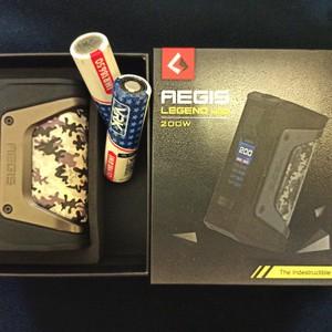 Beli Paket vape Aegis Legend 200 w Authentic + baterai vrk 18650 x2 + charger + bonus All second