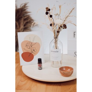 vas kaca bunga kering rustic minimalis bunga estetik home